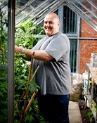 A green-fingered tenant at a Supported Housing scheme