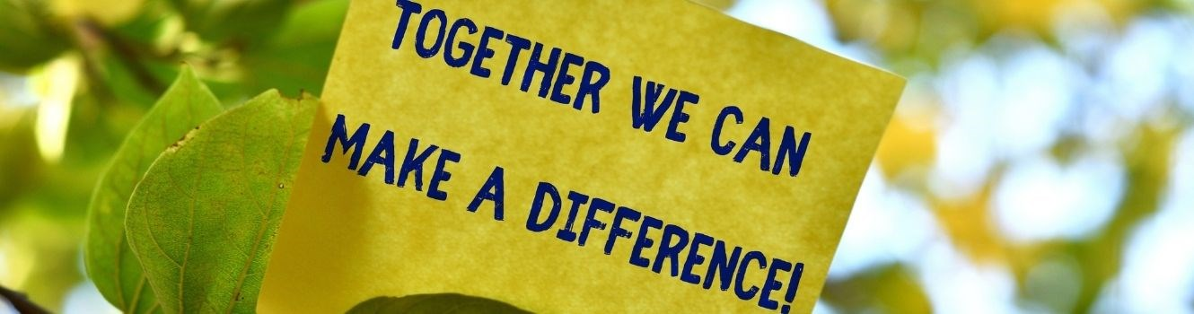 We can make a difference banner