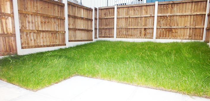 Rear garden with patio*