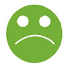 Sad Face Green