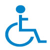 Wheelchair Icon Blue