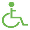 Wheelchair Icon Green