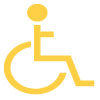 Wheelchair Icon Yellow