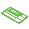 Debit Credit Card Green