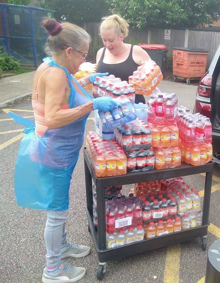 Joan Musker Wade Hall Foodbank 3